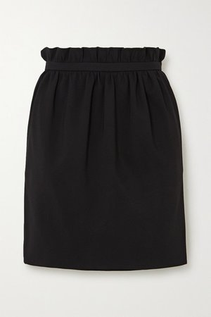 Crepe Mini Skirt - Black