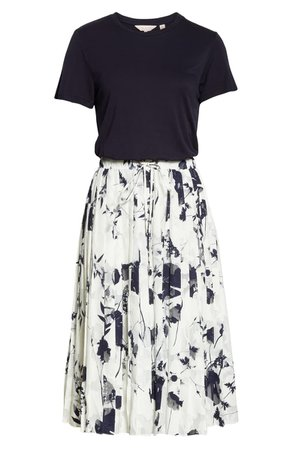 Ted Baker London Bekzi Bluebell Mock Two-Piece Pleated Dress   Nordstrom
