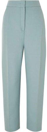 Haim Wool-blend Canvas Tapered Pants - Blue