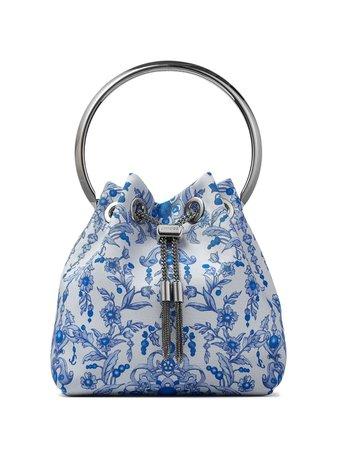 Jimmy Choo, floral-print tassel-detail Bon Bon Tote Bag