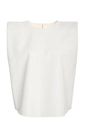 Graceful Sleeveless Recycled Vegan Leather Top by Johanna Ortiz | Moda Operandi
