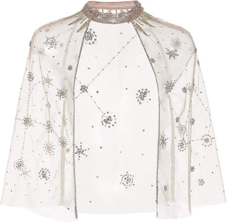 Cucculelli Shaheen Champagne Consellation Caplet Size: 2