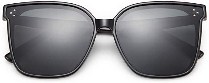 Amazon.com: FEISEDY Retro Oversized Cateye Polarized Sunglasses Women Men Minimalist Style B2600: Clothing