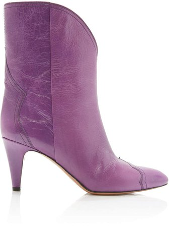 Dythey Leather Booties Size: 39