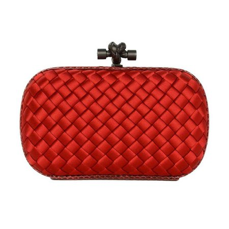 Bottega Veneta Knot Clutch Red Small | On The Trend