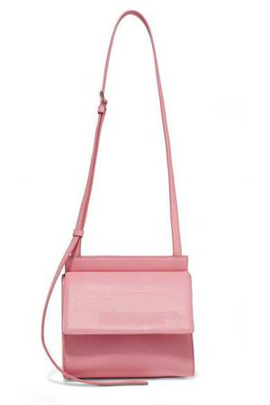 CALVIN KLEIN 205W39NYC | Embossed leather shoulder bag | NET-A-PORTER.COM