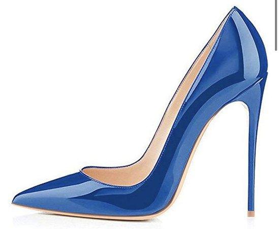 Shiny Blue Heels