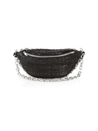 Alexander Wang Attica Hybrid Tweed Belt Bag | SaksFifthAvenue
