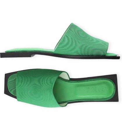 Ganni Square Toe Slide Sandal (Women) | Nordstrom