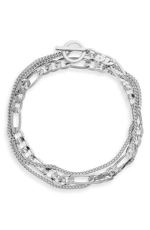 Nordstrom Mixed Chain Wrap Bracelet | Nordstrom