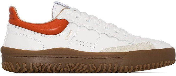 Colour-Block Leather Sneakers