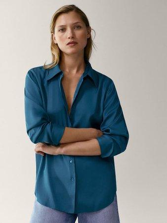 Satin blouse - Women - Massimo Dutti