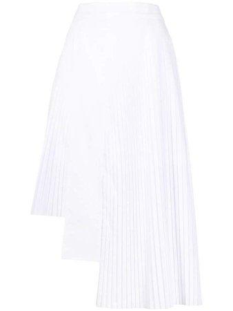 Hybrid pleated skirt