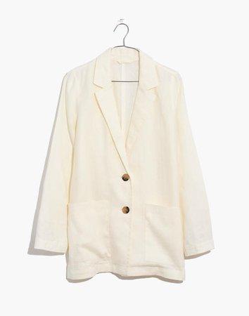 Linen Dorset Blazer white