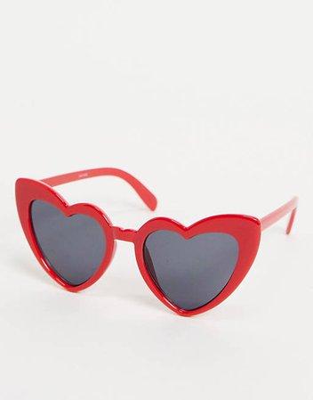 Madein. chunky frame heart shaped sunglasses   ASOS