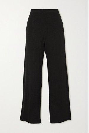 Lori Stretch-jersey Wide-leg Pants - Black
