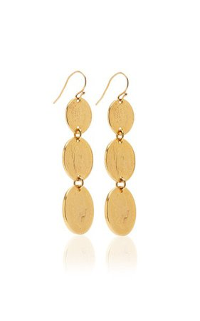 Gold-Plated Coin Earrings By Ben-Amun