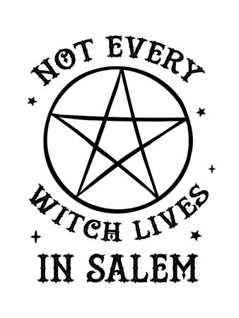Not Every Witch Lives In Salem Ladies White T-Shirt - Buy Online at Grindstore.com