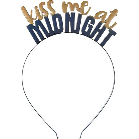 Midnight New Year's Eve Headband 4 1/2in x 2in | Party City
