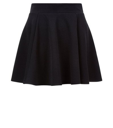 Girls Black Skater Skirt   New Look