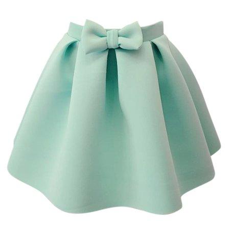 Mint Bow Skirt 1
