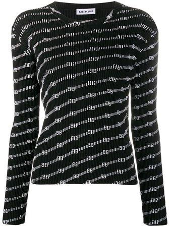 Balenciaga License Stickad Topp - Farfetch