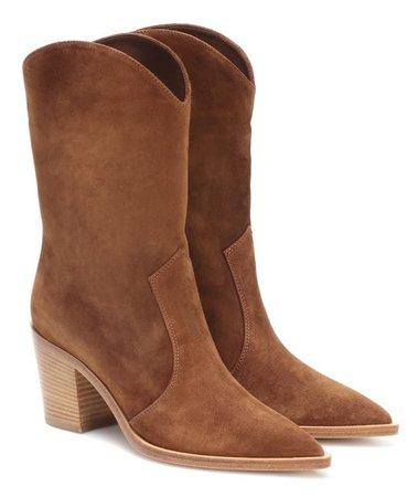 GIANVITO ROSSI Brown Denver Boots