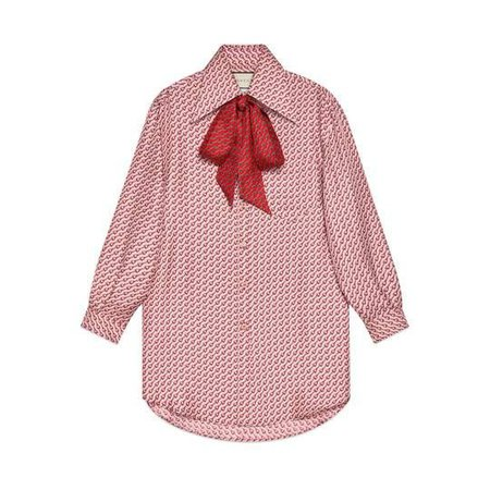 Silk top with stirrups print - Gucci Blouses