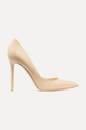 Neutral 105 patent-leather pumps | Gianvito Rossi | NET-A-PORTER