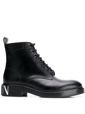 Valentino Garavani ботинки VLTN в стиле милитари - купить в интернет магазине в Москве | Цены, Фото.