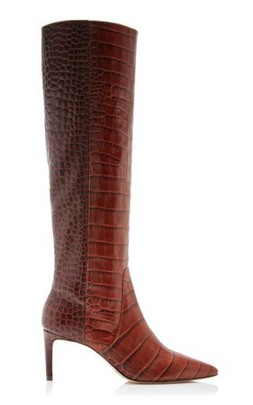 Jett Snake-Effect Leather Knee Boots By Ulla Johnson   Moda Operandi