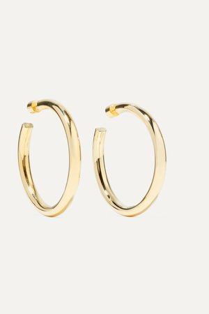 Gold Samira gold-plated hoop earrings | Jennifer Fisher | NET-A-PORTER