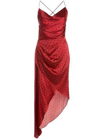 Haney robe-nuisette Asymétrique Holly à Pois - Farfetch