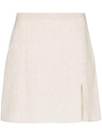 Reformation Baker Linen Mini Skirt - Farfetch
