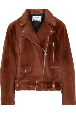 Merlyn shearling biker jacket   ACNE STUDIOS   Sale up to 70% off   THE OUTNET