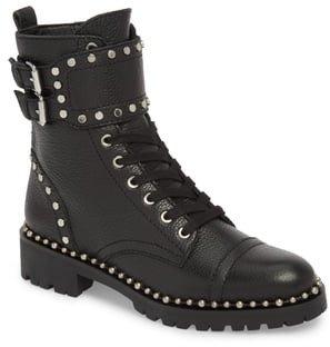 Jennifer Studded Combat Boot
