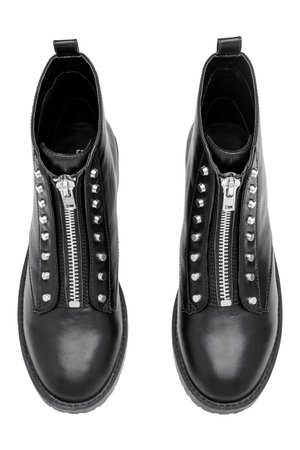 ankle boots black h&m