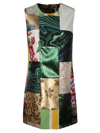 Dolce & Gabbana Rear Zip Sleeveless Dress