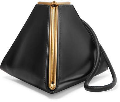 Pyramid Leather Clutch - Black