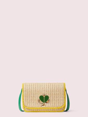 nicola raffia twistlock medium shoulder bag | Kate Spade New York