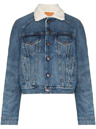 Denimist Exeter shearling-lining Denim Jacket - Farfetch