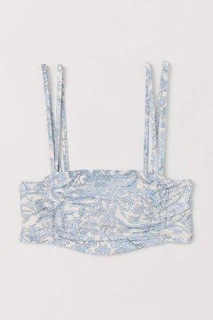 Padded Bandeau Bikini Top - White