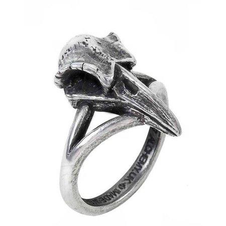 Crow Skull Ring