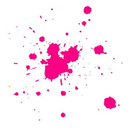 pink paint splash