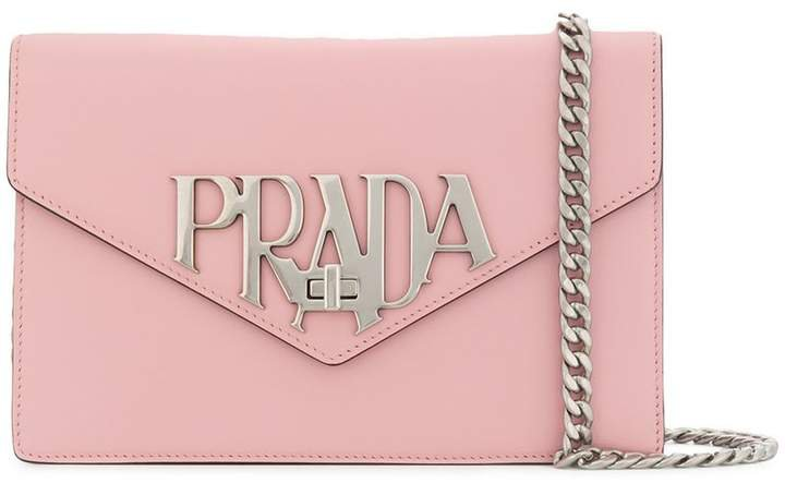 logo plaque shoulder bag