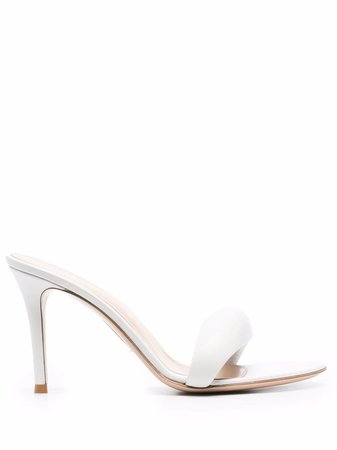 Shop Gianvito Rossi round-toe leather pumps with Express Delivery - FARFETCH