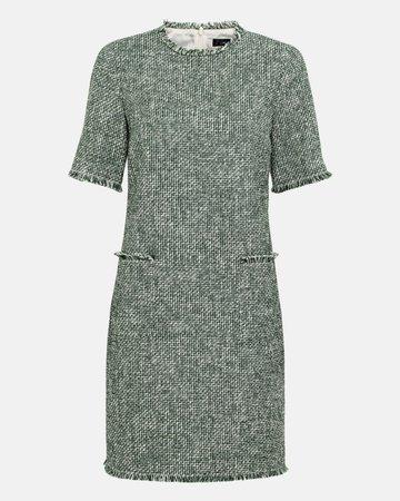 Ausgestelltes Bouclé-Kleid