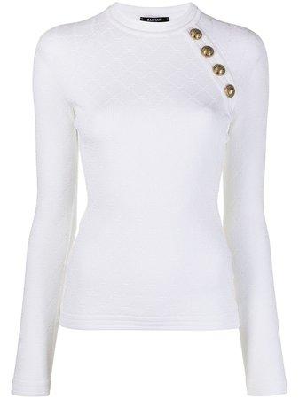 Balmain decorative-button Knitted Jumper - Farfetch