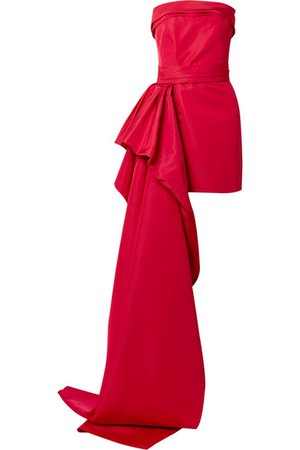 Reem Acra | Silk-faille mini dress | NET-A-PORTER.COM