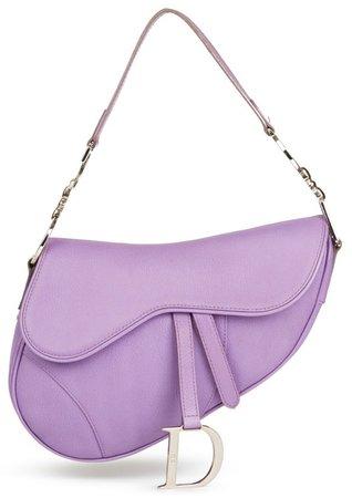 CHRISTIAN DIOR Lilac Saddle Handbag